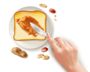 Peanut Butter Toasts Composition