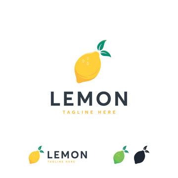 Fresh Lemon Lime logo template vector, Lemon Fruit logo icon