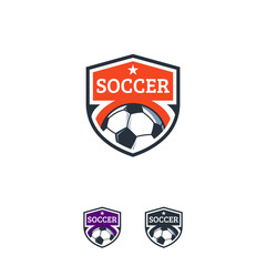 Soccer Sport logo designs badge vector template, Professional Football Sports Badge Logo