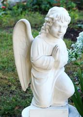 wonderful Sculpture of a prayer angel. architecture, statue, archetype, religion,
