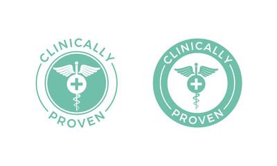 Clinically proven vector medical caduceus icon