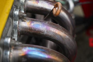 Race car's engine detail