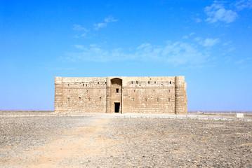 Exterior of desert castle Qasr Al-Harrana, Amman, Jordan