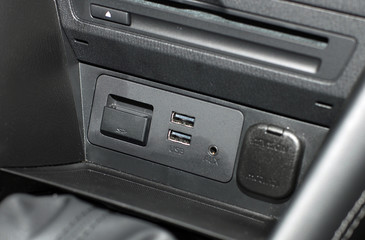 USB port in the car panel