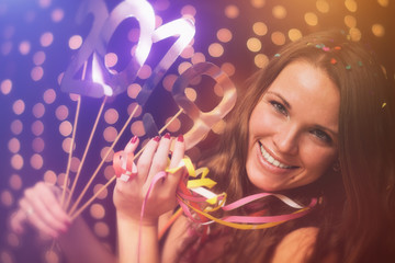 Young woman in New Year's Party