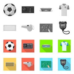 Vector design of soccer and gear symbol. Set of soccer and tournament stock vector illustration.