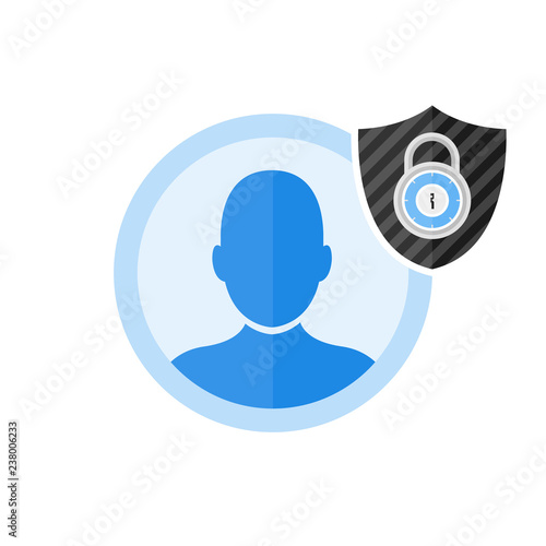 User login or authenticate icon, vector  Personal protection