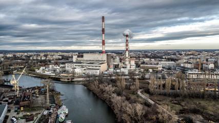 Fototapeta dron krajobraz