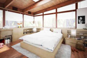 Verandaausbau zum Schlafzimmer