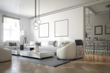 Raumadaptation: Wohnzimmer (Projektierung)