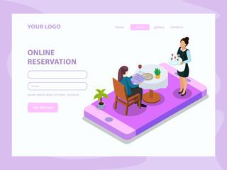 Waiter Isometric Web Page