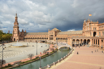 Plaza of Spain in Seville, the capital of Andalusia.