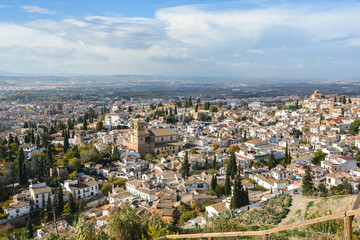 Granada, Andalusia. View overlooking the town.