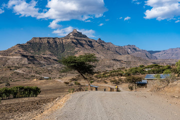 Äthiopien - Landschaft bei Lalibela