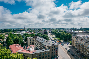 The view of Liepaja city with port area