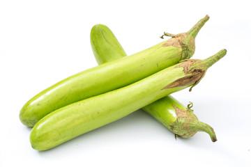 eggplant fresh veggies on white