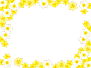 水仙の花のフレーム