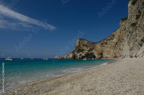 Chomi Beach (Paradise Beach) on Corfu, Ionian Islands