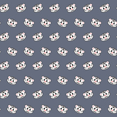 White tiger - emoji pattern 24