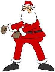 Santa dancing the floss