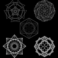 Geometry minimalistic artwork poster with simple shape and figure