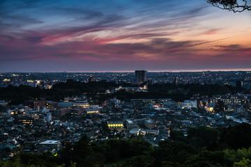 金沢・卯辰山からの夕景