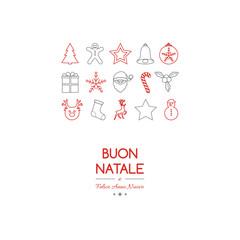 Buon Natale - translated from italian as Merry Christmas. Vector