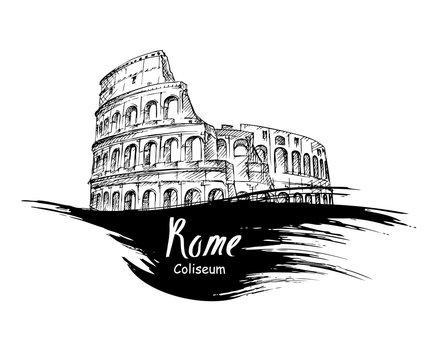 hand drawn Colosseum