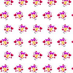Little boy & girl - sticker pattern 19