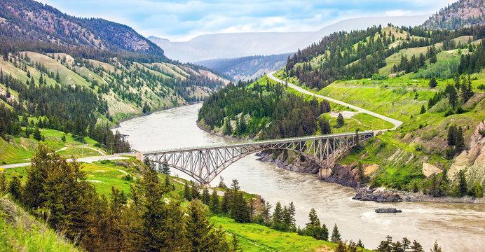 Bridge over the Fraser River at Williams Lake British Columbia Canada