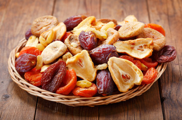 plate of mix of dried fruits