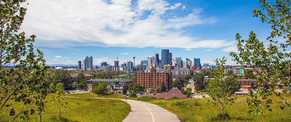 Calgary Alberta Skyline from Tom Campbells Hill Natural Park