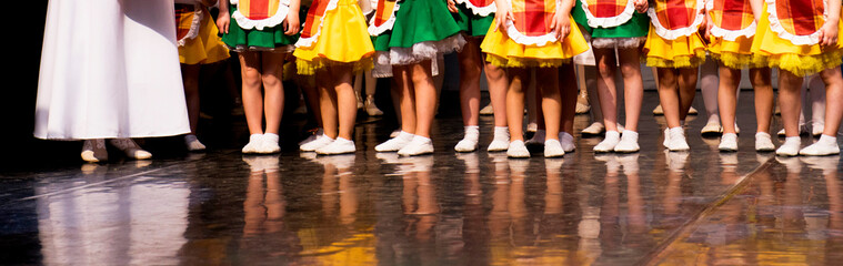 Little dancers on the stage dance