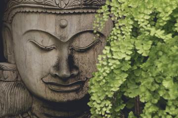 Buddha statue wooden old from B.Tawai, Chiang Mai, Thailand