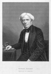 Portrait of the scientist Michael Faraday