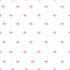 watercolor pattern with pink litlle heart