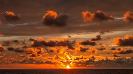 Sea sunset on Sri Lanka