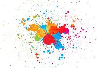 abstract splatter color background. illustration vector design Fototapete