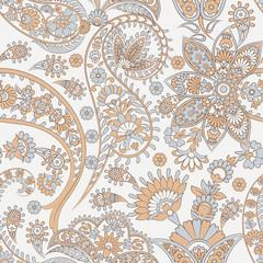 Paisley seamless pattern. Damask style Vintage illustration