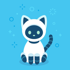 Cute robot cat