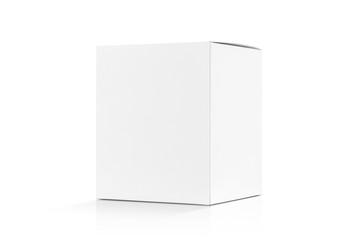 white cardboard box isolated on white background