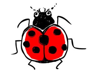 Cute ladybird vector illustration