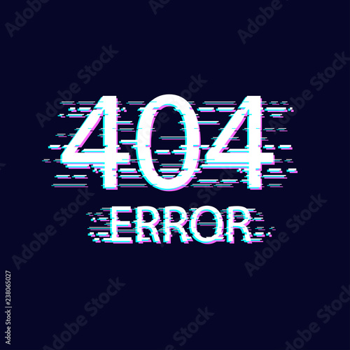 Error with glitch effect on screen  Error 404 page not found