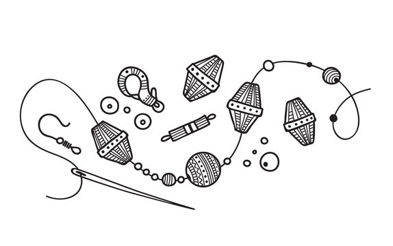 Vector illustration of hand made Jewelry process