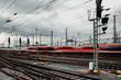Zug verlässt den Bahnhof