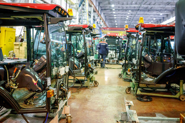 factory for the production of tractors and components for them