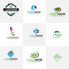 Modern Minimal Mega Vector Logo set Collection