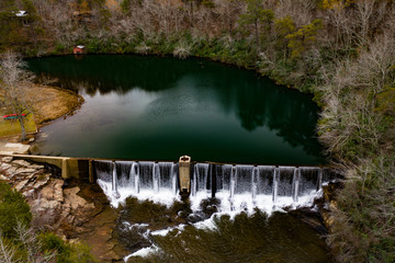 De Soto Falls Alabama in the afternoon at Thanksgiving