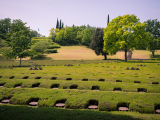 The German Military Cemetery of Costermano , Italy.