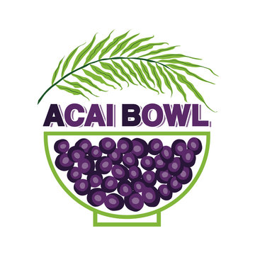 Cute Acai Bowl shop sign